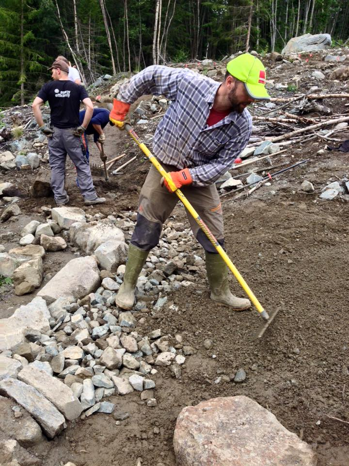 Allegra Tourimus helped to build sustainable trails in Norway and educated the crew.